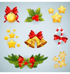 Christmas realistic festive set vector