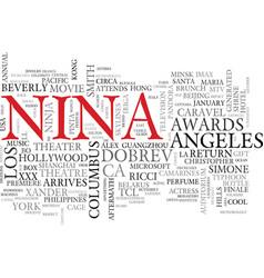 Nina word cloud concept vector