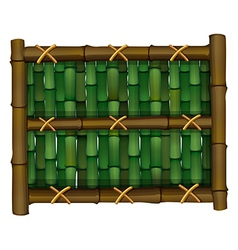 A fence made of bamboo vector