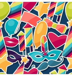 Celebration seamless pattern with carnival vector image