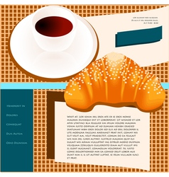 Coffee site templates vector
