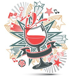 Celebrative leisure backdrop with musical notes vector