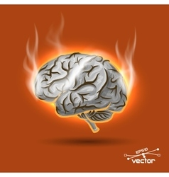 Melting brain vector