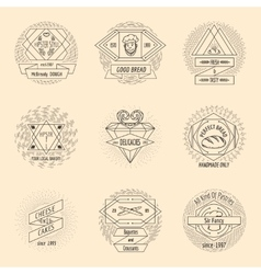 Bakery and pastry hipster vintage logo set vector image