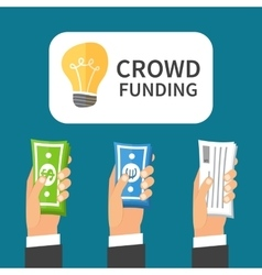 Crowdfunding process investing to startup vector