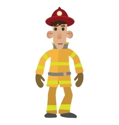 Firefighter cartoon character vector