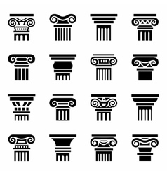 Column icon set vector