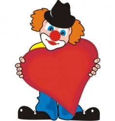 small clown vector image