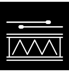 Drum Icon on a black vector image