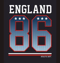 Athetic england 86 vector