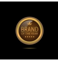 Brand of the year vector image vector image