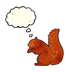 cartoon squirrel with thought bubble vector image vector image