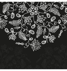 Chalkboard floral pattern vector