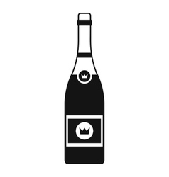 Champagne icon simple style vector
