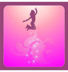 Disco dancing girl vector