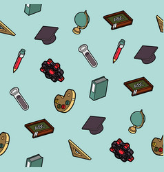 education flat outline isometric pattern vector image vector image