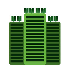 green building tower vector image vector image