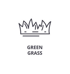 green grass line icon outline sign linear symbol vector image