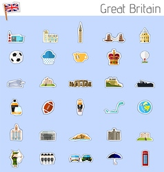 Icons of great britain vector