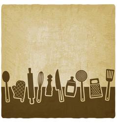 Menu or recipe book design set of kitchen vector