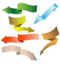origami navigation arrows vector image vector image