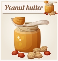 Peanut butter Detailed Icon vector image