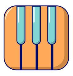Piano keys icon cartoon style vector