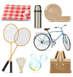 Picnic icons vector