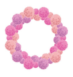 pink baby girl birthday party pom poms vector image vector image