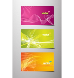 set of abstract gift cards with lines vector image vector image