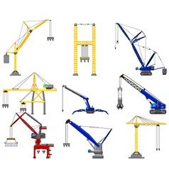 set of Construction crane vector image