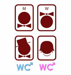 set of icons for wc vector image vector image