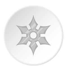 shuriken weapon icon circle vector image vector image