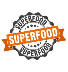 Superfood stamp sign seal vector