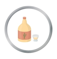 Tequila icon in cartoon style isolated on white vector image