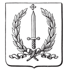 The great seal of the dutch indies is a vector