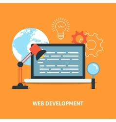 Web development concept vector