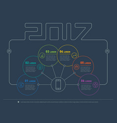 Web template 2017 of a info chart diagram or vector