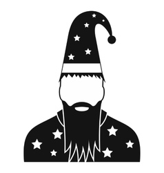 Wizard in a hat with stars vector