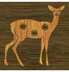 Young deer vector