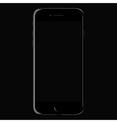 Realistic black mobile iphone 7 with blank screen vector image