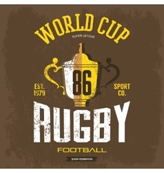 Goblet or trophy cup for american football rugby vector