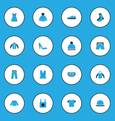 Garment colorful icons set collection of panama vector
