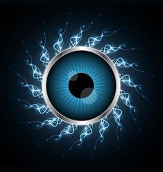 Technology cyber security eye light vector
