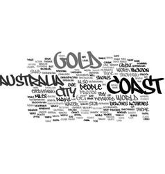 Gold coast australia text background word cloud vector