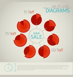 Pie chart template vector