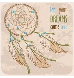 Dreamcatcher card vector