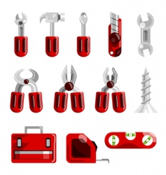 Work tools set vector