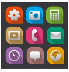 Interface icons flat vector
