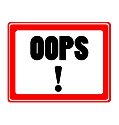 oops icon vector image